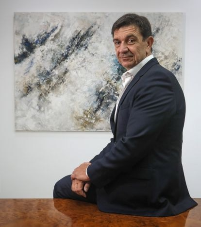 Juan Antonio Acedo, presidente y consejero delegado de Urbas, en la sede del grupo en Madrid.
