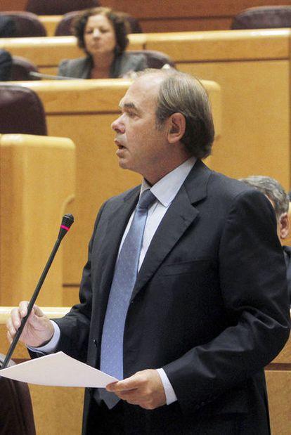 Pío García Escudero, en su intervención ayer en el Senado.
