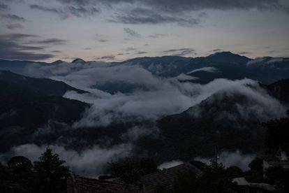 Vista de la sierra norte de Oaxaca, desde Yalálag.