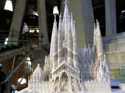 Todo preparado para levantar las seis estructuras que coronarán el templo de Gaudí y lo convertirán en el edificio más alto de Barcelona