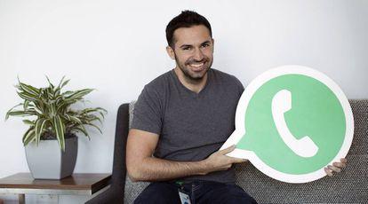 Santiago Pina Ros en las oficinas de WhatsApp, en Mountain View (California).