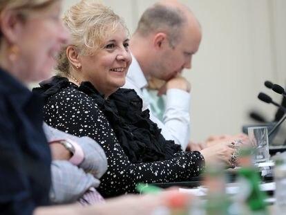 Lucica Ditiu en una sesión de UNGA HLM.