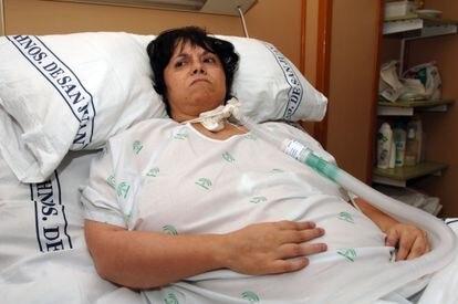 Inmaculada Echevarría, enferma de distrofia muscular progresiva, en 2006.