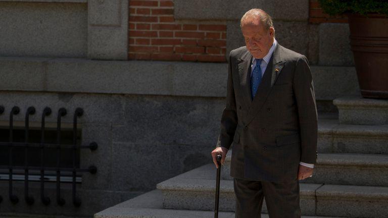 Juan Carlos I, en el palacio de la Zarzuela en junio de 2014.