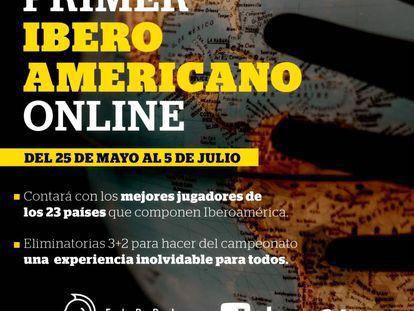 Cartel anunciador del Campeonato Iberoamericano relámpago por internet