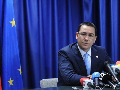 Victor Ponta, hoy en Bruselas.