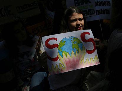 El movimiento estudiantil Friday for Future protesta en Madrid contra el cambio climático, en mayo pasado.