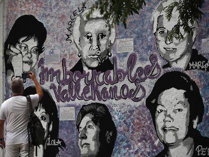 El mural dedicado a seis mujeres referentes del distrito de Villa de Vallecas.