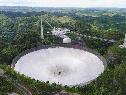 Imagen del Observatorio de Arecibo administrado por UCF, tomada en 2019.