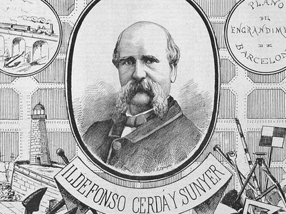 Reproducción de la publicación 'La llumanera' en la que aparece Ildefons Cerdà.