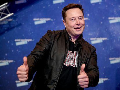 Elon Musk, en unos premios en Berlín en diciembre de 2020.
