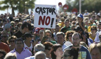 Manifestación en Alcanar contra el almacén de gas Castor.