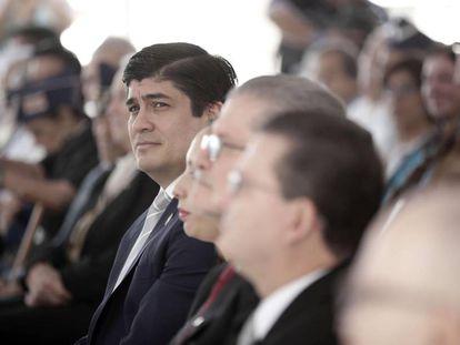 El presidente costarricense, Carlos Alvarado, el sábado en San José.