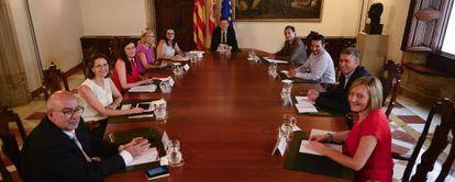 El Consell de la Generalitat, presidido por Ximo Puig, en su primera reunión.