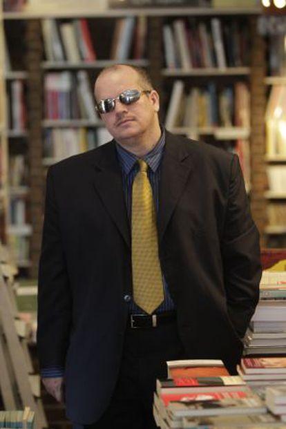 Fernado Báez, en la librería madrileña Rafael Alberti © Álvaro García