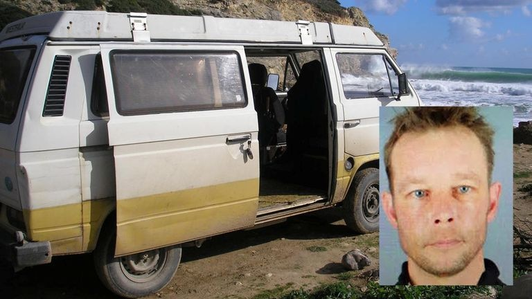 La furgoneta utilizada por el sospechoso de asesinar a la niña Madeleine McCann en 2007.