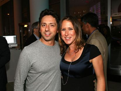 Sergey Brin y su mujer, Anne Wojcicki.