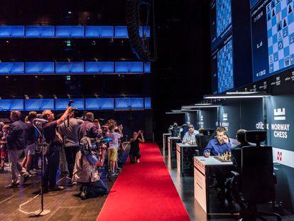 Visión general del escenario del torneo Norway Chess en octubre de 2020