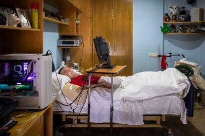 Rafa Botella, tetrapléjico, reclama su derecho a morir dignamente.