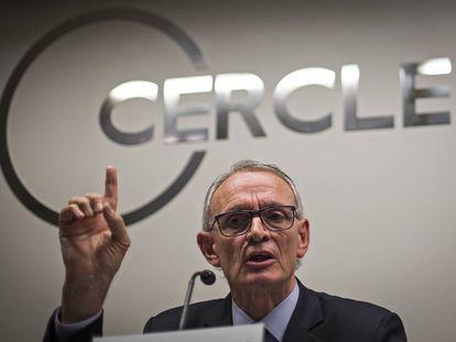 Antón Costas, expresidente del Círculo de Economía, en Barcelona.