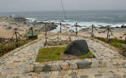 Vista de la tumba del poeta Pablo Neruda en Isla Negra, Chile, tomada en marzo de 2013.