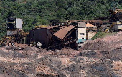 Instalaciones de la mina Brumadinho tras el desastre.