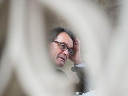 Artur Mas, el pasado jueves en la Generalitat.