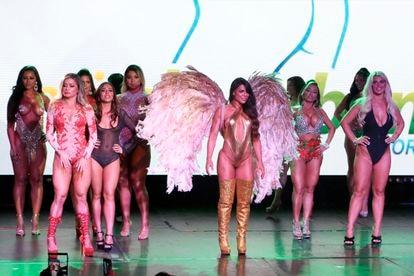 Concursantes del certamen de belleza Miss Bum Bum World, en el Foro Total Play de Ciudad de México el 30 de septiembre de 2019.