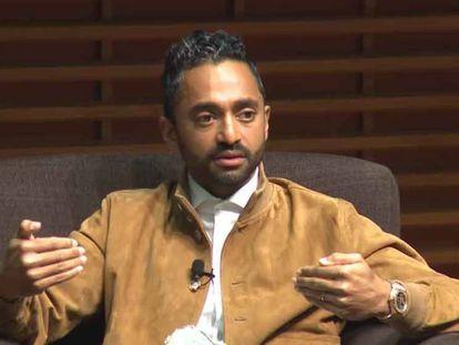 Chamath Palihapitiya, durante el foro de la Escuela de Negocios de Stanford el pasado 10 de noviembre.