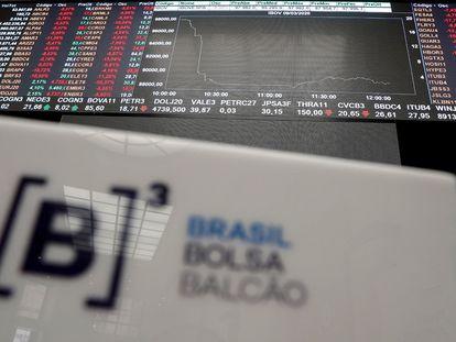 Fotografía de un tablero que muestra los valores de la Bolsa de Sao Paulo, en Sao Paulo (Brasil).EFE/ Sebastiao Moreira