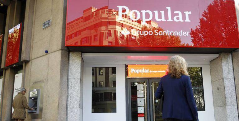 Immagine di una filiale del Banco Popular.