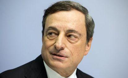 Mario Draghi, presidente del BCE, el pasado diciembre.