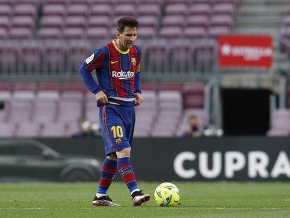 Messi, después del segundo gol del Celta al Barça el domingo en el Camp Nou.