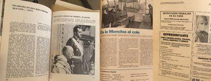 Páginas de uno de los manuales de español del profesor Ndioro Sow.