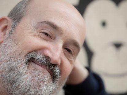 Javier Camara, en el Monkee Cafe de Madrid, el pasado 13 de marzo.