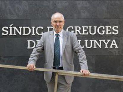 Rafael Ribó, defensor del pueblo de de Cataluña.