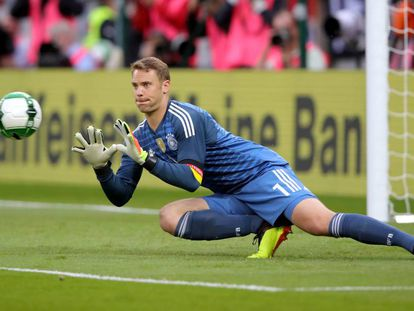 Neuer, el sábado en el amistoso Austria-Alemania.
