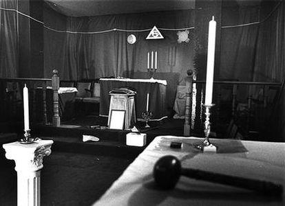 Lugar de encuentro de una logia masónica, en una imagen de archivo.