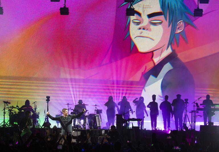 Damon Albarn, en un concierto de Gorillaz en 2018 en California.