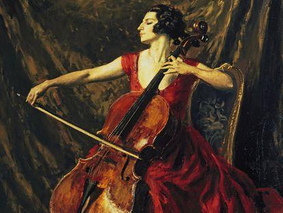 Un retrato de Madame Suggia pintado en 1902 por Augustus Edwin John.