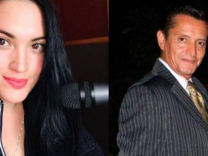 A la izquierda, Bárbara Greco, locutora de Ciudad Juárez. A la derecha, Adrián Fernández, director de una revista de Morelos.