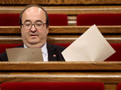 Miquel Iceta, este jueves en el Parlament. En vídeo, el alegato final de Iceta y el momento de la votación.