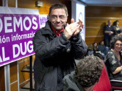 Juan Carlos Monedero, 'número tres' de Podemos.
