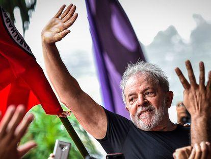 Lula da Silva, en São Bernardo do Campo, después de ser excarcelado en noviembre de 2019.