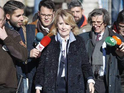 Esperanza Aguirre sale de la Audiencia Provincial de Madrid, tras declarar la pasada semana.