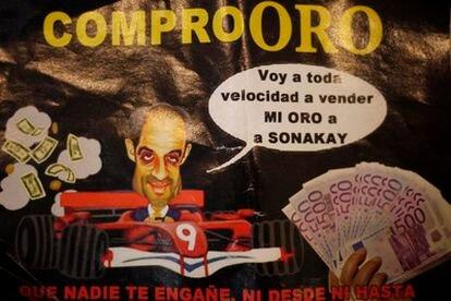 Hoja publicitaria en la que una casa de empeños de Valencia usa la imagen de Camps.