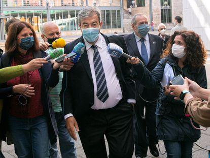 El fundador de Foro Asturias, Francisco Álvarez-Cascos, acude a declarar al juzgado de instrucción número 2 de Oviedo el pasado 23 de septiembre.