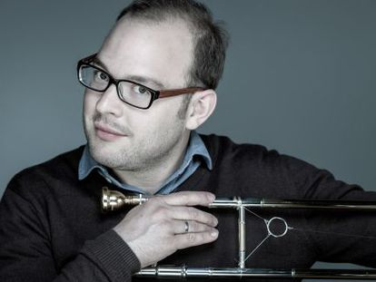 El trombonista suizo Samuel Blaser, líder de Consort in Motion.