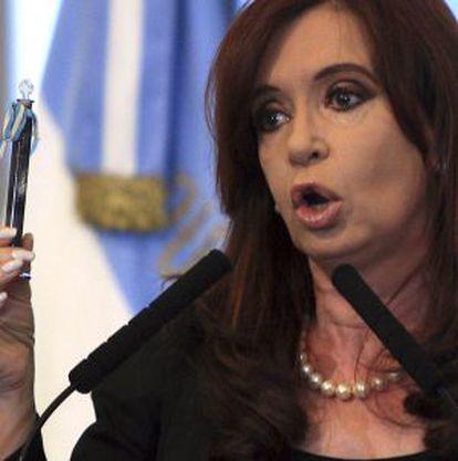 La presidenta argentina, Cristina Fernández de Kirchner, en abril, en Buenos Aires.