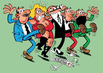 Los personajes de 'Mortadelo y Filemón', creados por Ibáñez, principal activo de Ediciones B.